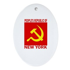 People's Republic of New York Oval Ornament