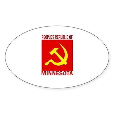 People's Republic of Minnesot Oval Sticker