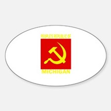 People's Republic of Michigan Oval Decal