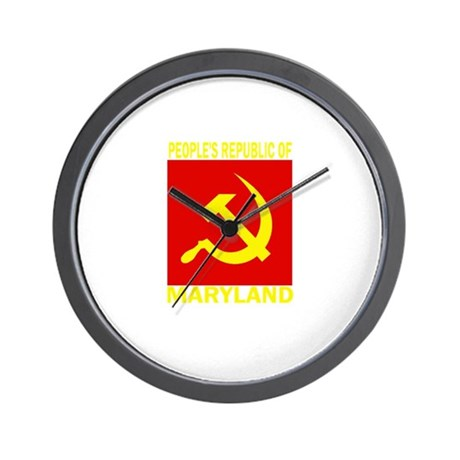 People's Republic of Maryland Wall Clock