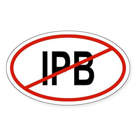 IPB Oval Sticker