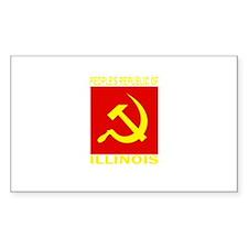 People's Republic of Illinois Sticker (Rectangular