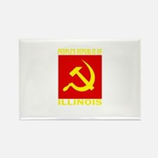 People's Republic of Illinois Rectangle Magnet