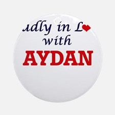 Madly in love with Aydan Round Ornament