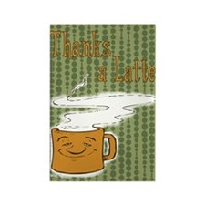 Thanks a Latte! (orange) Rectangle Magnet