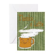 Thanks a Latte! (orange) Greeting Card
