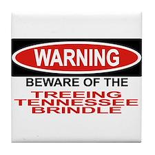 TREEING TENNESSEE BRINDLE Tile Coaster