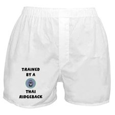 Trained by a Thai Ridgeback Boxer Shorts