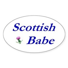 Scottish Babe Oval Decal