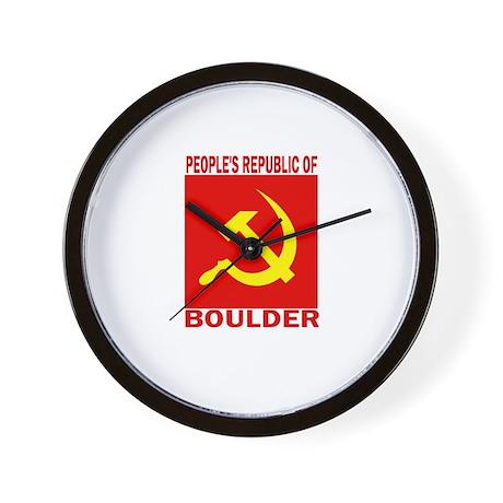 People's Republic of Boulder Wall Clock