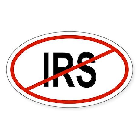 IRS Oval Sticker