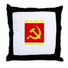 People's Republic of Boulder Throw Pillow