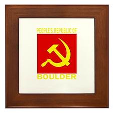 People's Republic of Boulder Framed Tile