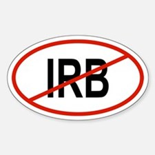 IRB Oval Decal