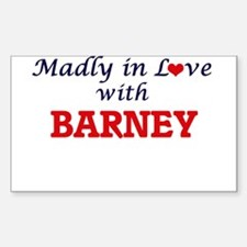 Madly in love with Barney Decal