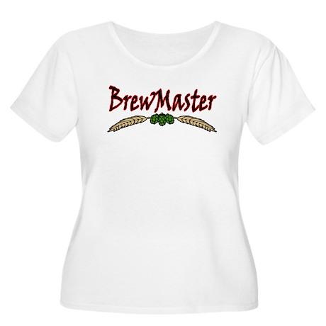 Brew Master Women's Plus Size Scoop Neck T-Shirt