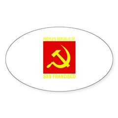 People's Republic of San Fran Oval Decal