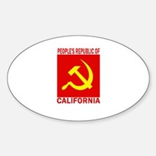 People's Republic of Californ Oval Bumper Stickers