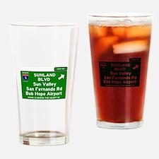 I5 INTERSTATE EXIT SIGN - CALIFORNI Drinking Glass
