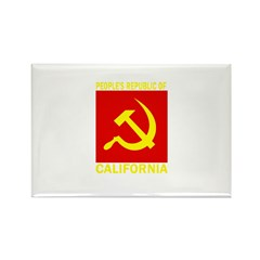 People's Republic of Californ Rectangle Magnet (10