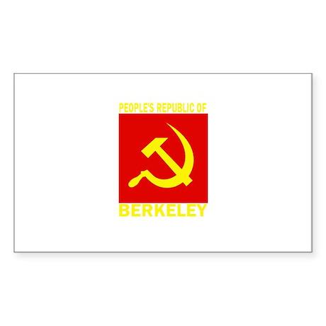People's Republic of Berkeley Sticker (Rectangular