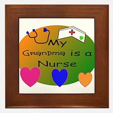 Unique Nurse kid Framed Tile