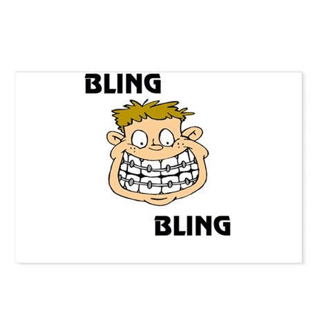 Bling Bling (braces) Postcards (Package of 8)
