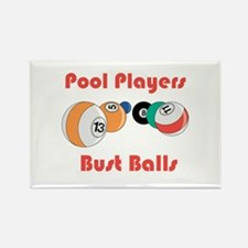 Pool Players Bust Balls Rectangle Magnet