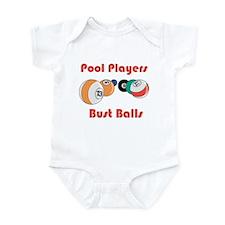 Pool Players Bust Balls Infant Bodysuit