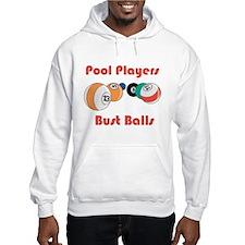 Pool Players Bust Balls Hoodie