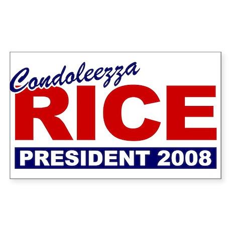 Condoleezza Rice 2008 Rectangle Sticker
