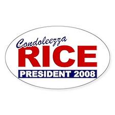 Condoleezza Rice 2008 Oval Decal