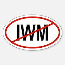 IWM Oval Decal