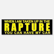 When I Am Taken Up In The Rap Bumper Bumper Bumper Sticker