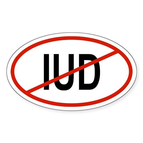 IUD Oval Sticker