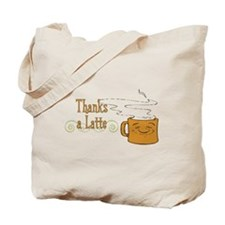 Thanks a Latte! (orange) Tote Bag
