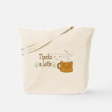 Thanks a Latte! (orange) Tote Bag