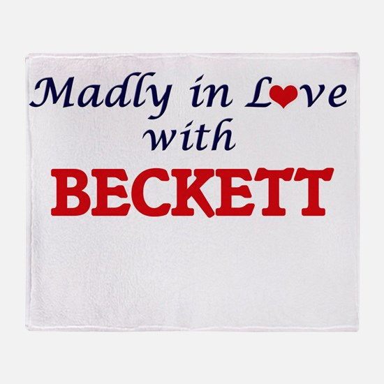 Madly in love with Beckett Throw Blanket