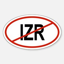 IZR Oval Decal