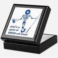Pool Takes Brains Not Brawn Keepsake Box