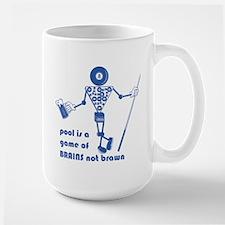 Pool Takes Brains Not Brawn Mug