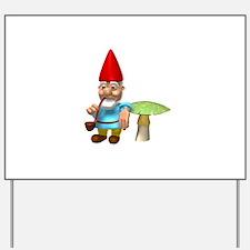 Gnome Dude Yard Sign
