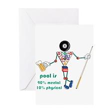 Pool: 90% Mental 10% Physical Greeting Card