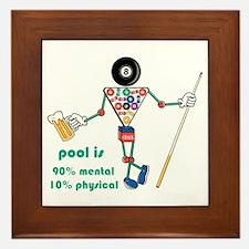 Pool: 90% Mental 10% Physical Framed Tile