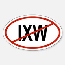 IXW Oval Decal