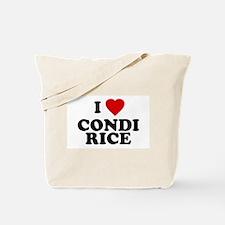I love [heart] Condi Rice Tote Bag