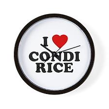 I love [heart] Condi Rice Wall Clock