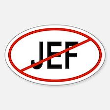 JEF Oval Decal