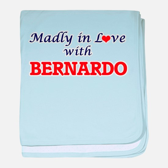Madly in love with Bernardo baby blanket