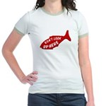 Don't Look Up Here Jr. Ringer T-Shirt